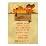Oktoberfest, calabazas, cerveza invitación 12,7 x 17,8 cm