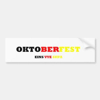 Oktoberfest Car Bumper Sticker