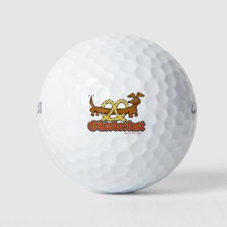Oktoberfest-Cartoon-Pretzel-Doxie Golf Balls