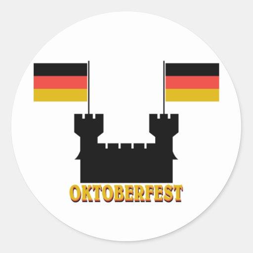 Oktoberfest Castle Classic Round Sticker