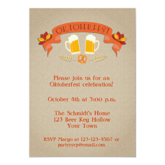 "Oktoberfest Celebration Invite 5"" X 7"" Invitation Card"