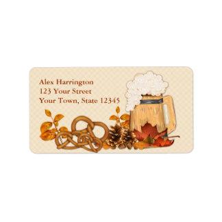 Oktoberfest Celebration Address Label