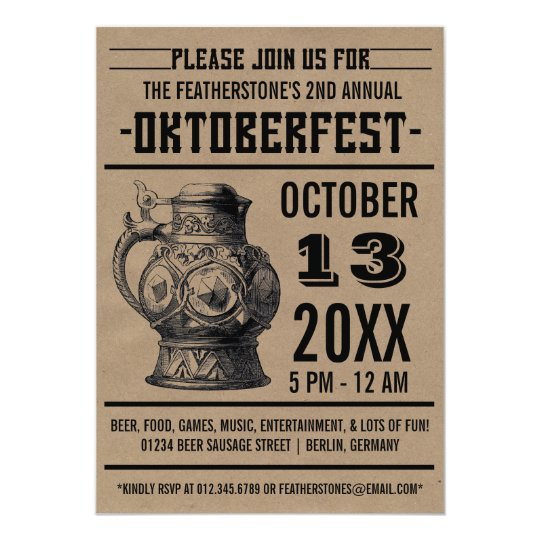 Oktoberfest Celebration Party Invitations