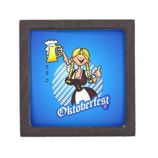 Oktoberfest - chica en un dirndl caja de joyas de calidad