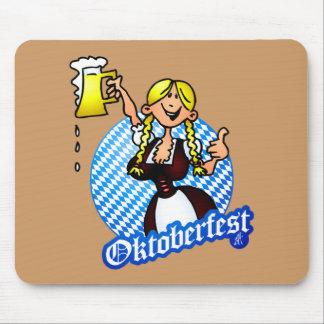 Oktoberfest - chica en un dirndl tapetes de ratones