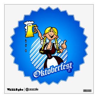 Oktoberfest - chica en un dirndl vinilo