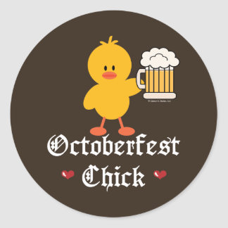 Oktoberfest Chick Stickers