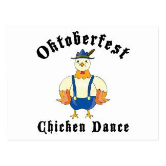 Oktoberfest Chicken Dance Postcard
