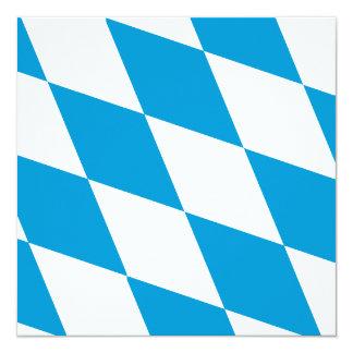 """Oktoberfest, colores de Baviera Invitación 5.25"""" X 5.25"""""""