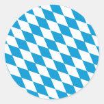 Oktoberfest, colores de Baviera Pegatina Redonda