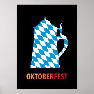 Oktoberfest, colores de Baviera Póster