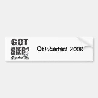 ¿Oktoberfest consiguió la féretro? Pegatina Para Auto
