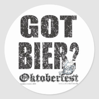 ¿Oktoberfest consiguió la féretro? Pegatina Redonda