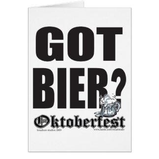 ¿Oktoberfest consiguió la féretro? Tarjeta De Felicitación