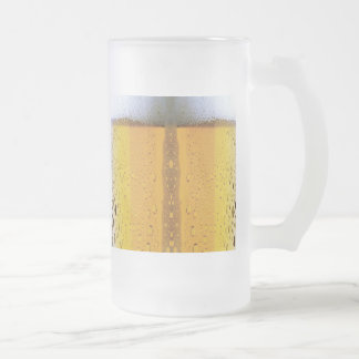 Oktoberfest Cool Beer Foam Frosted Glass Beer Mug