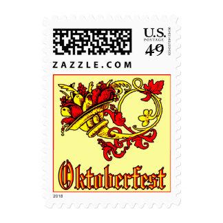Oktoberfest Cornucopia Postage Stamp