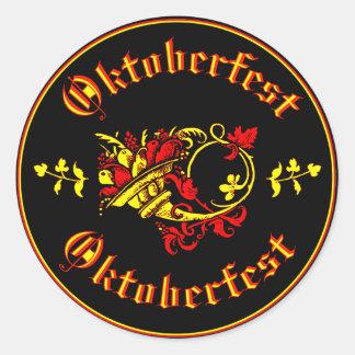 Oktoberfest Cornucopia Round Sticker