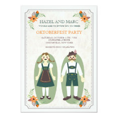 Oktoberfest Couple Invitation at Zazzle