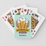 """Oktoberfest custom name playing cards<br><div class=""""desc"""">Original image by freepik.com (used with license),  modified by me. See my store for more Oktoberfest items.</div>"""