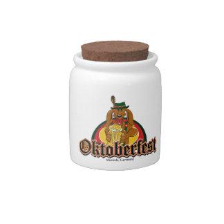 Oktoberfest Dachshund Candy Dish