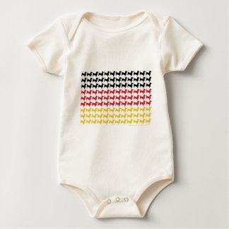 Oktoberfest Dachshund Flag Baby Bodysuit