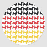 Oktoberfest Dachshund Flag Classic Round Sticker