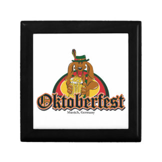 Oktoberfest Dachshund Keepsake Box