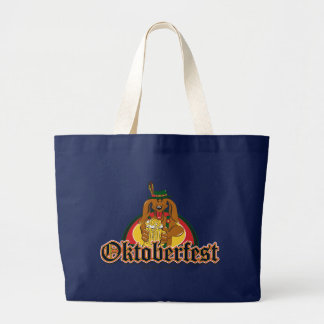 Oktoberfest Dachshund Large Tote Bag