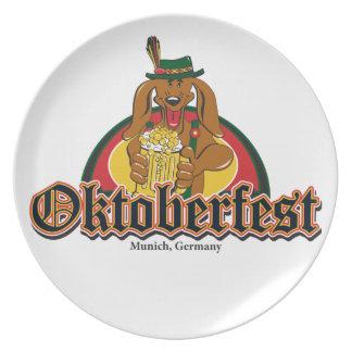 Oktoberfest Dachshund Party Plates