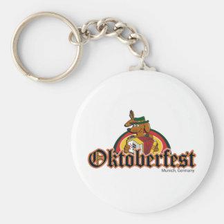 OKTOBERFEST Dachshund Playing Accordian Basic Round Button Keychain