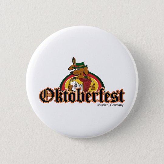 OKTOBERFEST Dachshund Playing Accordian Button