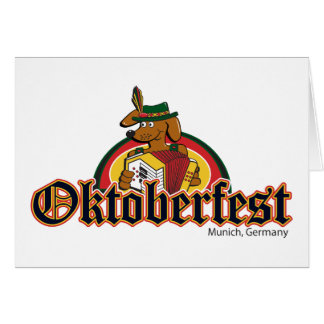 OKTOBERFEST Dachshund Playing Accordian Card