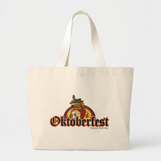 OKTOBERFEST Dachshund Playing Accordian Large Tote Bag