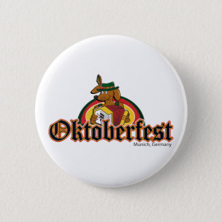 OKTOBERFEST Dachshund Playing Accordian Pinback Button