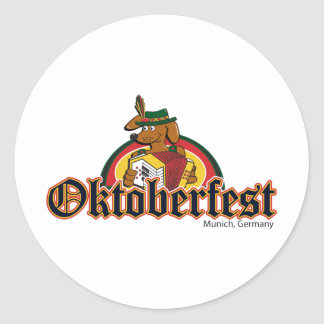 OKTOBERFEST Dachshund Playing Accordian Stickers