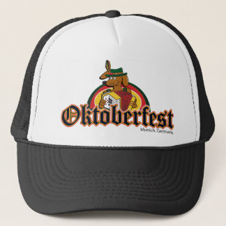 OKTOBERFEST Dachshund Playing Accordian Trucker Hat