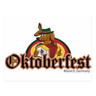 Oktoberfest Dachshund Post Cards