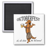 Oktoberfest Dachshund Refrigerator Magnets