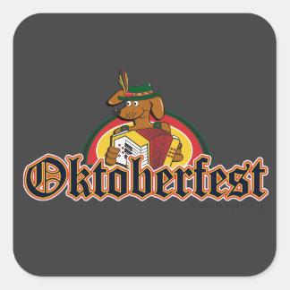 Oktoberfest Dachshund Square Sticker