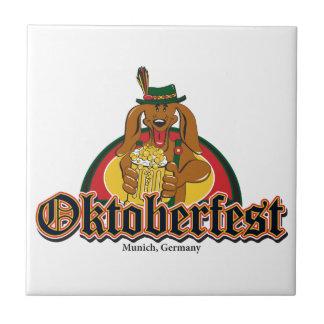 Oktoberfest Dachshund Tile