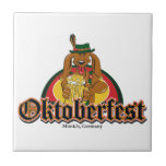 Oktoberfest Dachshund Tiles
