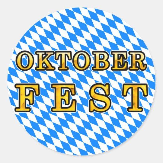 """""""Oktoberfest"""" (dark outline) Classic Round Sticker"""