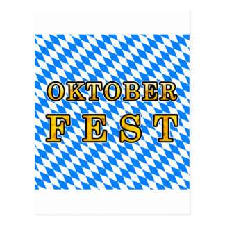 """Oktoberfest"" (dark outline) Postcard"