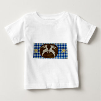 Oktoberfest - deer with gentian on blue white chec baby T-Shirt
