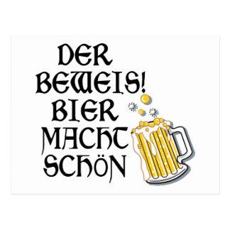 Oktoberfest Der Beweis! Bier Macht Schön Postcard