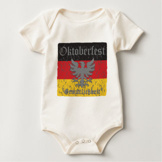 Oktoberfest Distressed Flag Baby Bodysuit