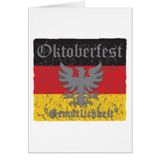 Oktoberfest Distressed Flag Card