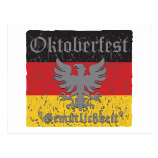 Oktoberfest Distressed Flag Postcard