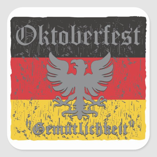 Oktoberfest Distressed Flag Square Sticker