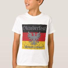 Oktoberfest Distressed Flag T-shirt at Zazzle